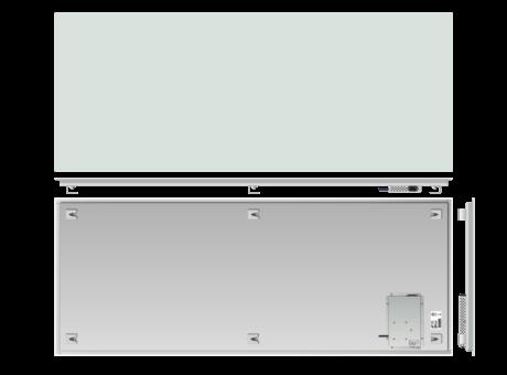 Infrapanel bezrámový - elegantní, dálkově ovládaný termostatem, 1300W, 150 x 60cm