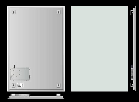 Infrapanel bezrámový - elegantní, dálkově ovládaný termostatem, 800W, 90 x 60cm